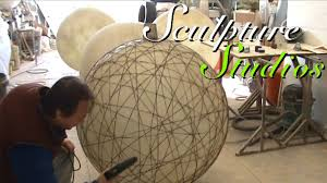 String Lamps Fibreglass String Lanterns By Sculpture Studios Youtube