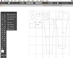 pattern drawing illustrator pattern drafting with illustrator cloth habit