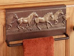 Kitchen Towel Holder Ideas by Bronze Iron Kitchen Towel Rack With Carved Object Animal Dish