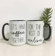 couples coffee mug set coffee mug set engagement gift