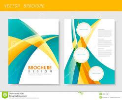 modern streamlined flyer template for business stock vector