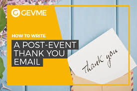 how to write a post event thank you email