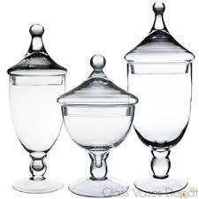set of three 3 candy buffet jars glass apothecary jar kids