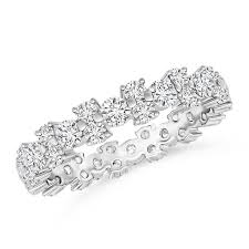 eternity wedding bands garland cubic zirconia eternity wedding band ring in 14k