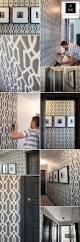 u0026 white trellis wallpaper by calgary wallpaper installer