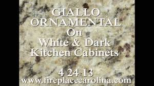 granite countertops installed giallo ornamental on white