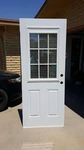 32x78 Exterior Door 32 X 78 Exterior Metal Door Slab With Miniblinds Between Glass