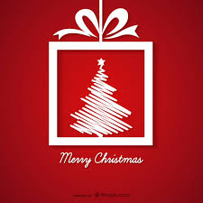 red and white christmas greeting card vector free download