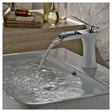 contemporary centerset waterfall with ceramic valve single handle