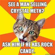 Crystal Meth Meme - see a man selling crystal meth cat meme cat planet cat planet