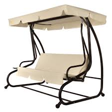 Patio Swing Cushions Palm Springs 3 Person Converting Patio Porch Swing Chair With