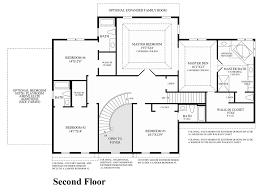 2nd Floor Plan Design Trotters Glen The Covington Home Design