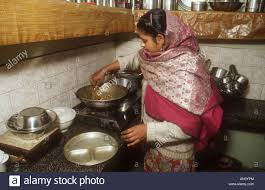 kitchen of middle class family in gobindigarh punjab india with
