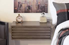 floating wall mounted nightstand lotus driftwood gray woodwaves