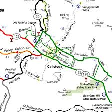 Map Of Napa Valley Napa Valley Bike Tours Napa Cycling Vacation