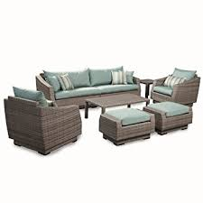Amazon Furniture Sofas by Amazon Com Rst Brands 8 Piece Cannes Sofa And Club Chair Deep