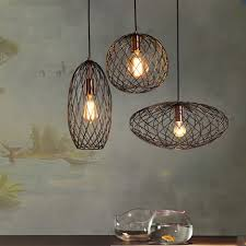 Wire Light Fixtures Iwhd Retro Loft Style Barbed Wire Droplight Industrial Vintage