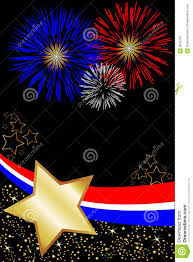 usa 4th july fireworks poster royalty free stock photo image