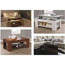 Lift Up Coffee Table Lift Up Coffee Table With Storage Available In 4 Colours White
