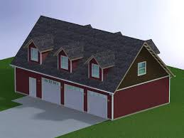 Dormers Only 48x28 Garage With Attic And Six Dormers