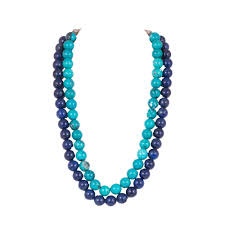 blue necklace images Dual layered bright and light blue necklace mystic collections jpg