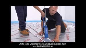 Ultra Fin Radiant by Installing Jg Speedfit Underfloor Heating Using The Staple System