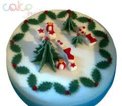 dcc104 fondant designer christmas cake u2013 cake square chennai