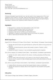 Veterinary Resume Examples by Professional Assistant Superintendent Templates To Showcase Your