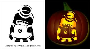 5 free halloween minion pumpkin carving stencils patterns ideas
