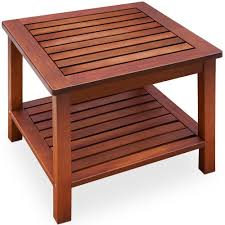 Acacia Wood Outdoor Furniture by Garden Coffee Side Table Acacia Wood Patio Outdoor Conservatory