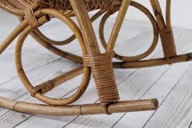 Bamboo Rocking Chair Vintage Bamboo Rocking Chair 1950s For Sale At Pamono