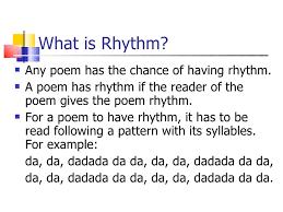 pattern poem definition rhyme rhythm and alliteration