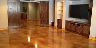 acid stained basement floors basement floor alternatives