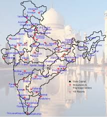 best tourist map of india travel guide information of indian tourist places cities