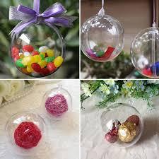 10pcs tree ornament decor clear plastic balls