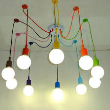 Colored Chandelier Edison Retro Spider Chandelier Lighting Colorful Pendant L 3 To