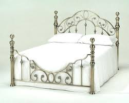 bed frame white metal double bed frame ebay cheap black metal