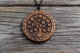 wood pendants necklace images Linden cerris design studio fine hand carved wooden jewelry JPG