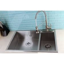 33 by 22 kitchen sink uptowne 33 x 22 self rimming 70 30 double bowl kitchen sink