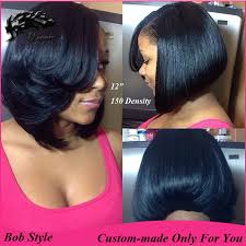 layered bob haircut african american layered bob 150 density custom made 100 human hair brazilian