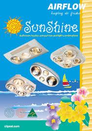 sunshi ne bathroom heater exhaust fan and light combinations