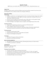 Customer Service Objective Resume Example by Stocker Job Description For Resume Resume For Your Job Application