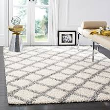 Area Rugs 6 X 10 Safavieh Dallas Shag Collection Sgd258f Ivory And Grey