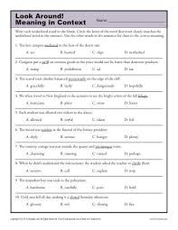 7 best context clues images on pinterest 6th grade worksheets