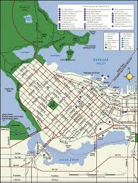 Seattle Downtown Attractions Map by Vancouver Map Tourist Attractions Map Holiday Travel