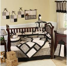 classy brown fabric cowboy baby bedding sets brown shag wool rug