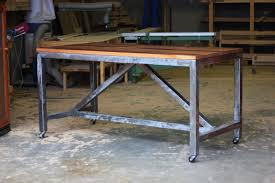 dining room industrial steel frame industrial dining table for