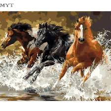 Horse Decor For Home by Online Get Cheap Abstract Horse Paintings Aliexpress Com