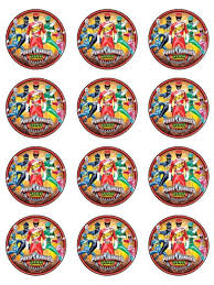 power rangers cake toppers children themes edible icing cupcake and cake toppers tagged rice
