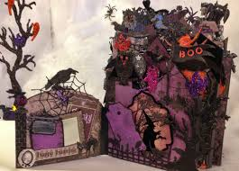 scrapbook halloween background annes papercreations recollections spooky castle halloween mini album